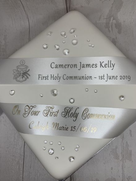 FIRST HOLY COMMUNION or  BAPTISM PERSONALISED RIBBON